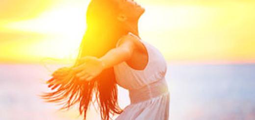 štěstí, blaženost, dívka