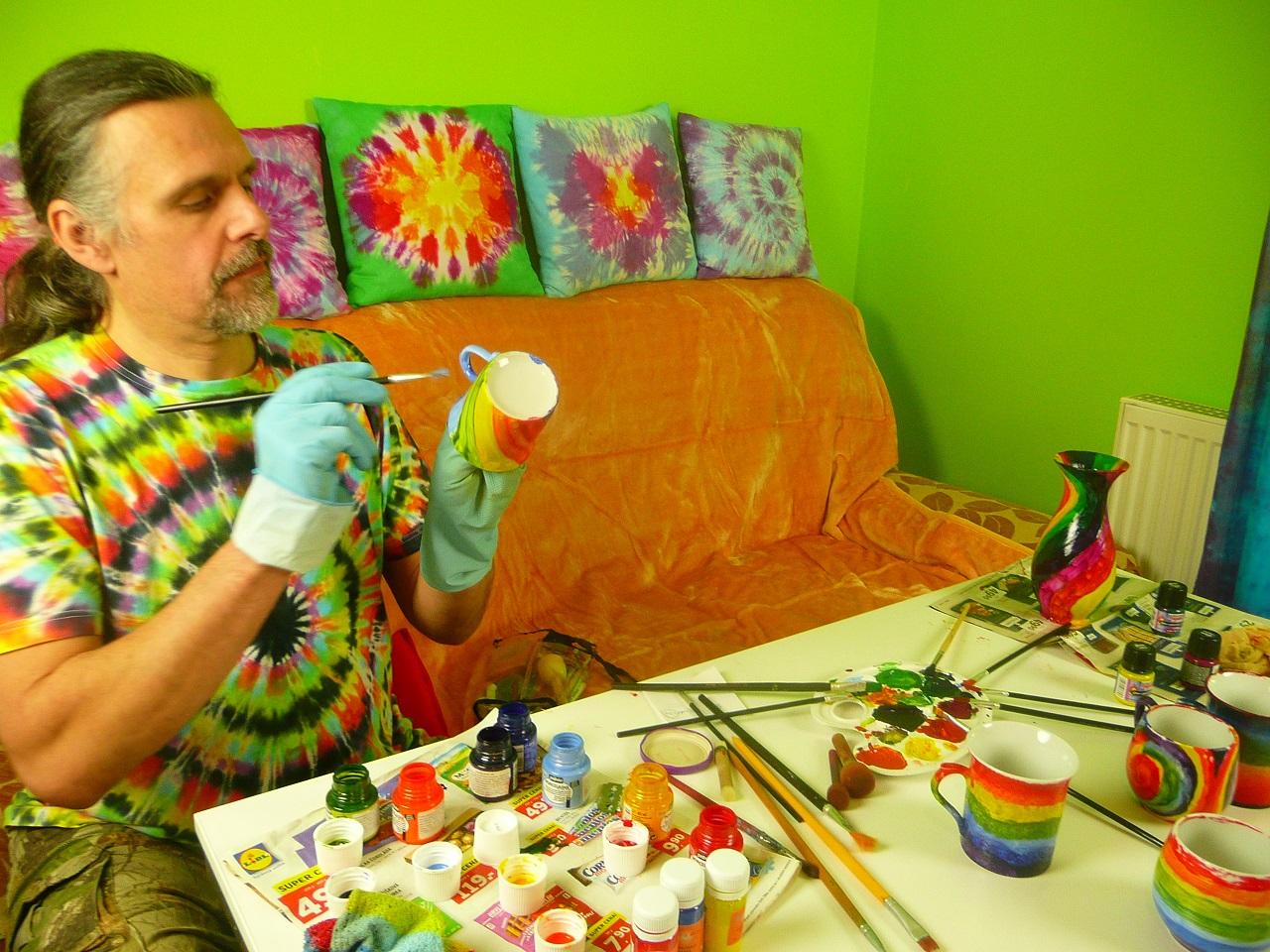 Malování hrnečků - test barev
