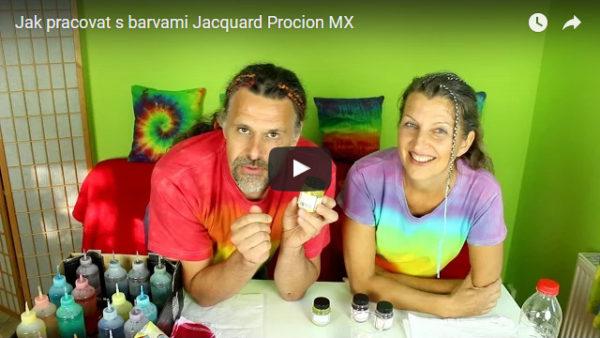 Jak pracovat s barvami Jacquard Procion MX