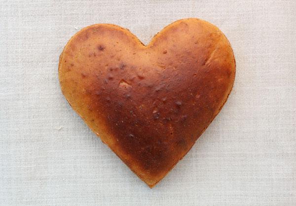 Domácí chleba - srdce