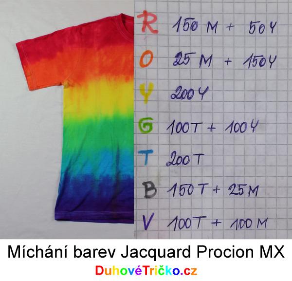 Míchání barev Jacquard Procion MX