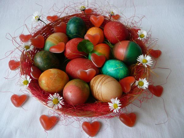 Velikonoce 2014 - vajíčka, srdíčka, čtyřlístek