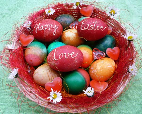 Velikonoce 2014 - vajíčka Happy Easter Love