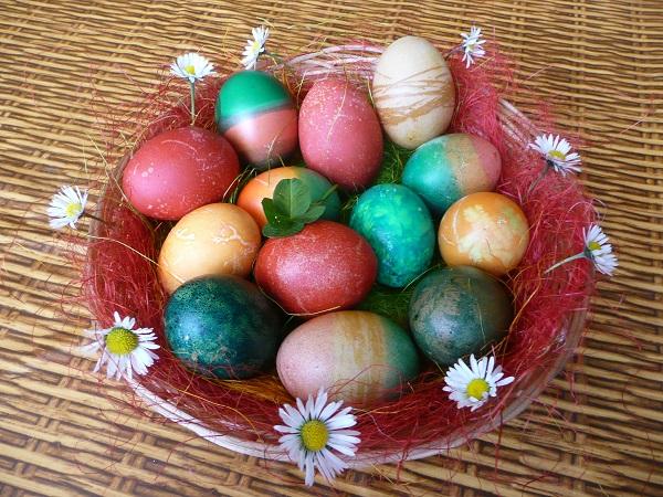 Velikonoce 2014 vajíčka a kytičky
