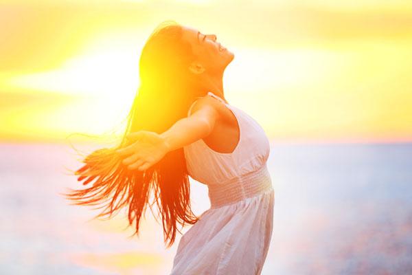 štěstí, radost, spokojenost, blaženost, dívka