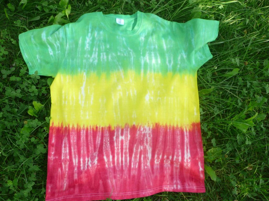 Batikované tričko po vyprání