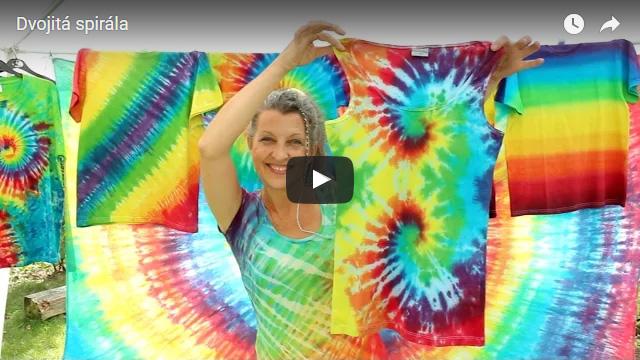 Batikované tričko Dvojitá spirála