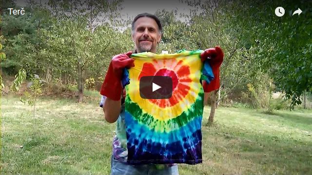 Batikované tričko Terč