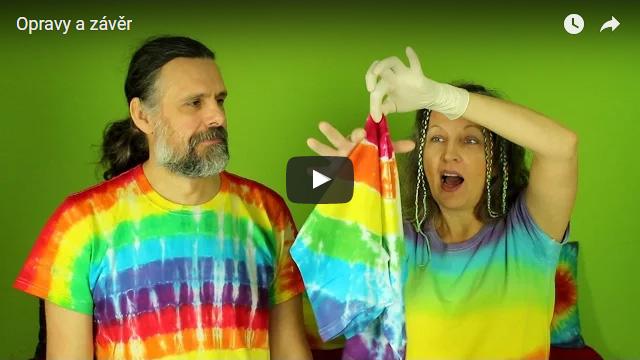 Batikujeme trička - Opravy a závěr